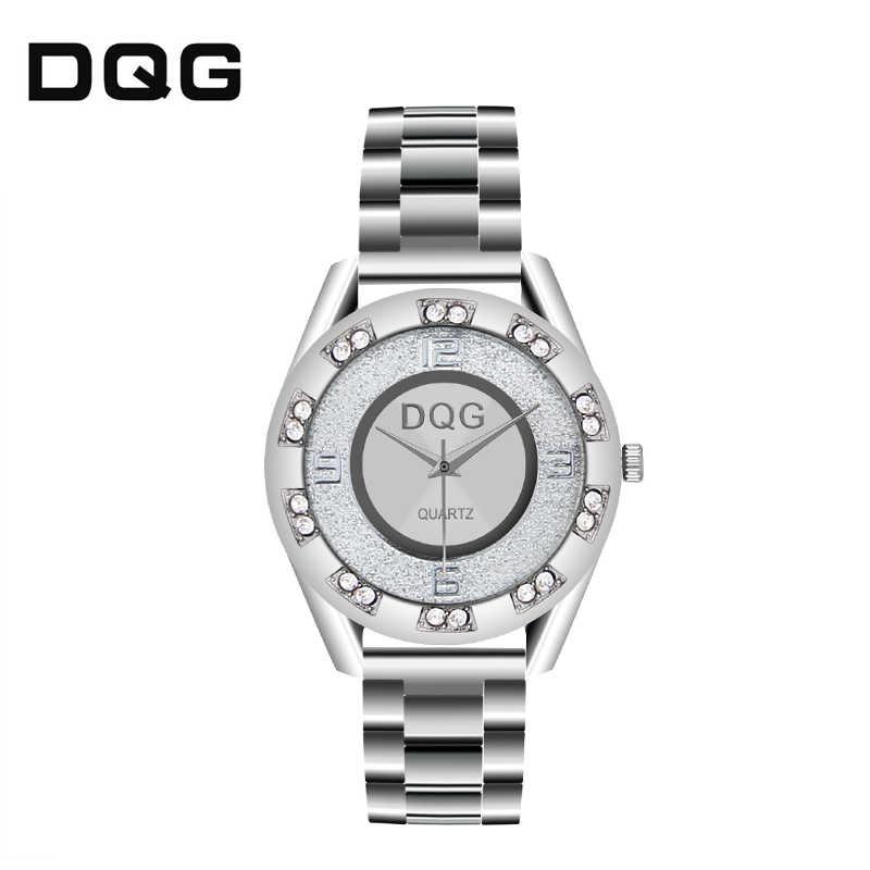 Relogio Masculino marques de luxe DQG hommes femmes maille en métal cristal en acier inoxydable montre à quartz décontractée offre spéciale vacances cadeau Chasy