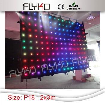RGB full color 2x3 M LED Tenda di Visione 176 pz Panno fase Ad alta luminose A Prova di Fuoco + Controller
