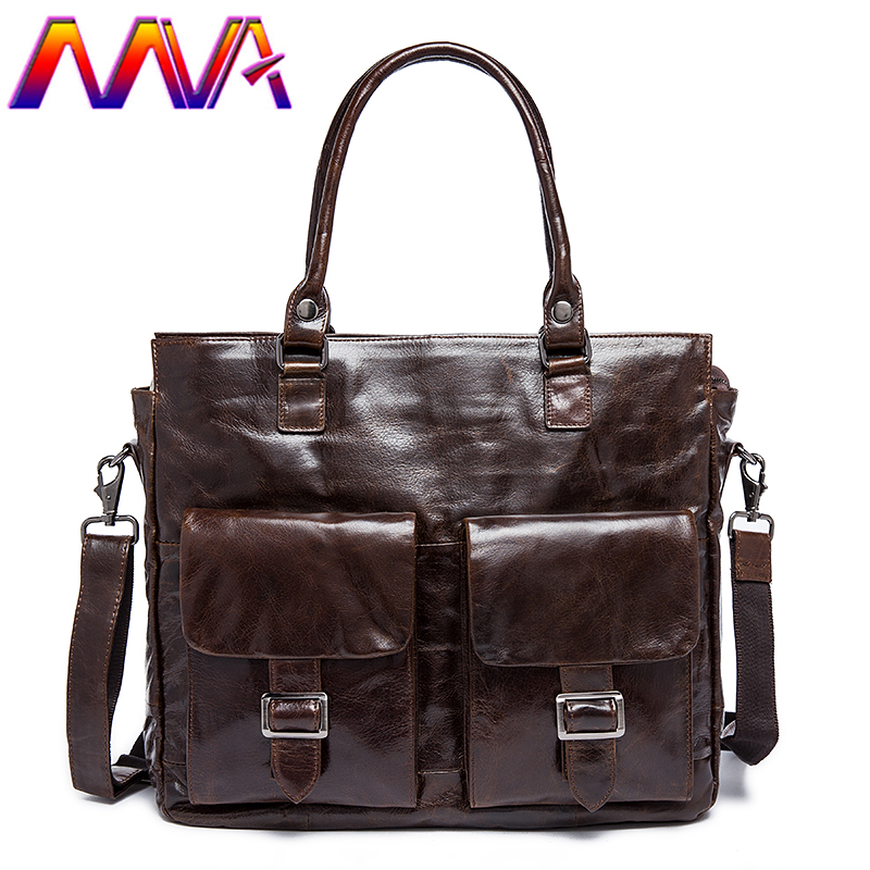 MVA Newly cowhide leather men briefcase with 100% genuine leather men handbag for fashion women briefcase bag men shoulder bag mva men leather briefcase 100