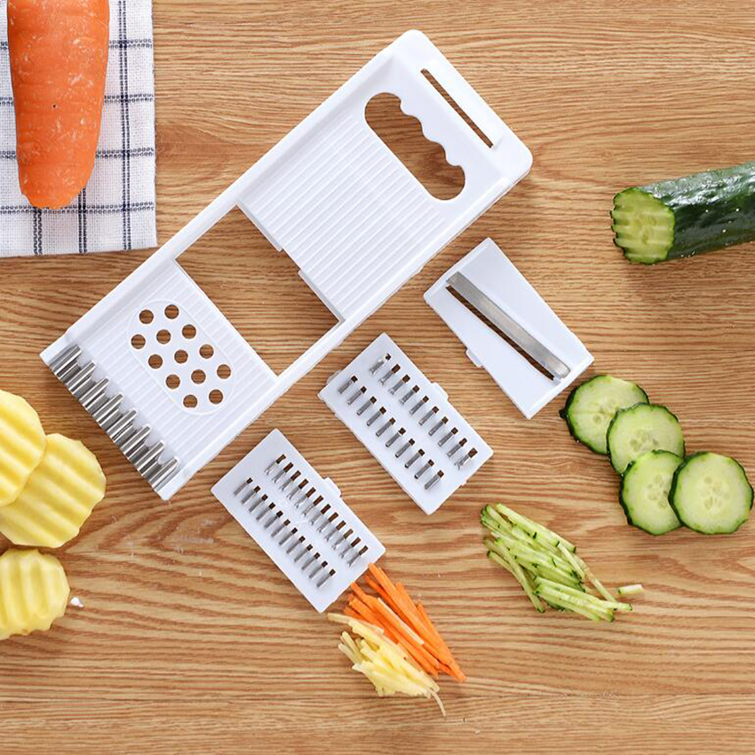Multifunction Fruit Vegetable Device Loofah Kitchen Grater Cut Cucumber Carrot Potato Peeler Julienne Grater Cutter Slicer Tool