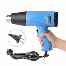Профессиональный 2000 Вт AC 220 В Теплый Воздух Электронный Термофен Воздушный Пистолет для Рук
