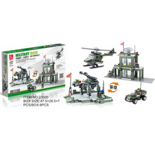 Army Military Headquarters Base Series Plastic Assembled Building Blocks Bricks Toy Set