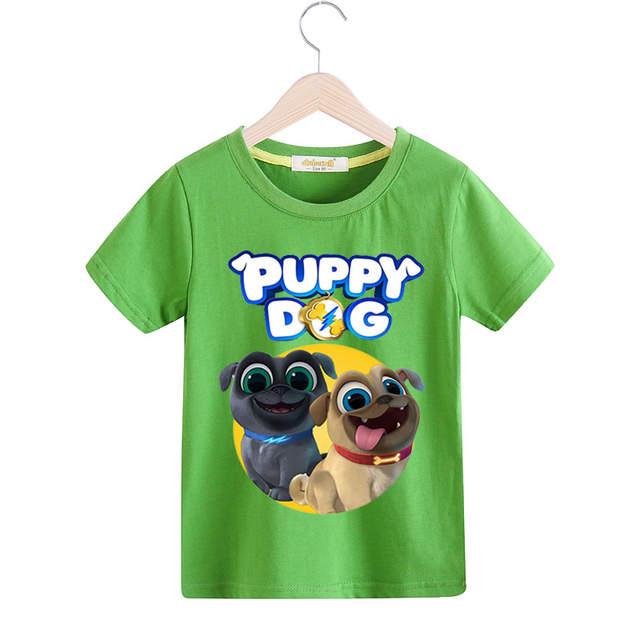 Online Shop Boy Girls O Neck White T Shirt Kids Puppy Dog Pals