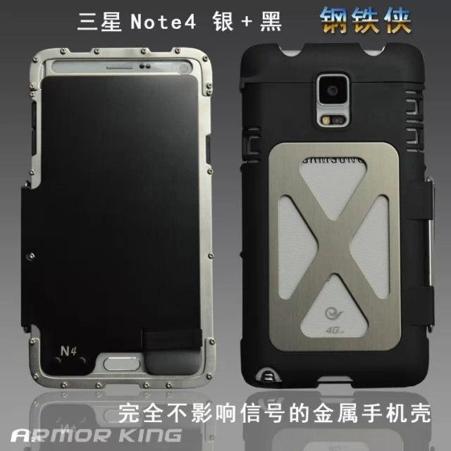 website for discount high fashion various design € 20.25 33% de réduction|Étui de protection en acier inoxydable ARMOR KING  accessoire pour Samsung Galaxy Note 4 N9100 élément d'origine coque de ...