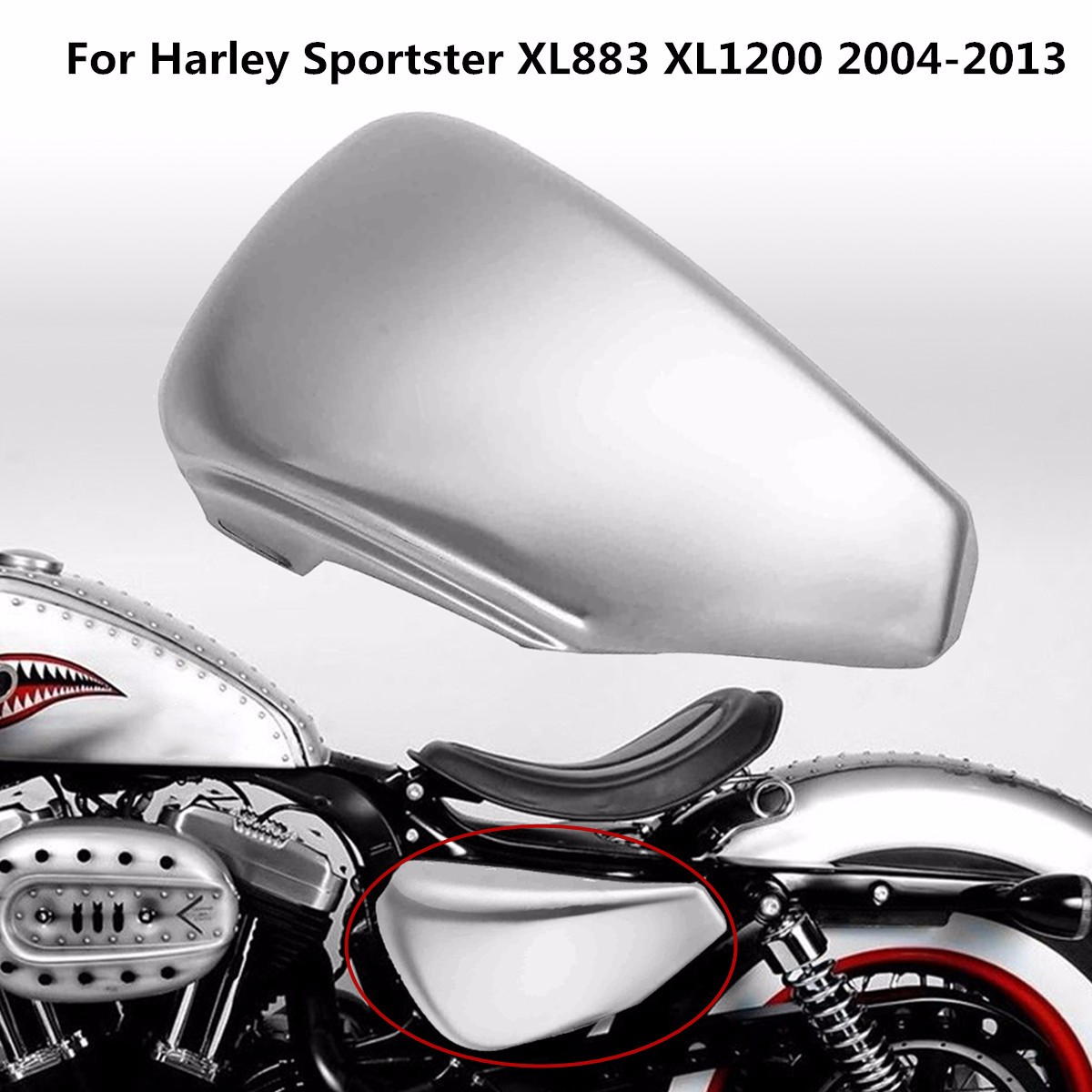 Autoleader Iron Silver Motorcycle Left Side Battery Cover for Harley for Sportster XL883 XL1200 2004-2013 34.5?x?17.5?x?6cm motorcycle cnc aluminum headlight grill cover for harley sportster xl883 xl1200 2004 2014