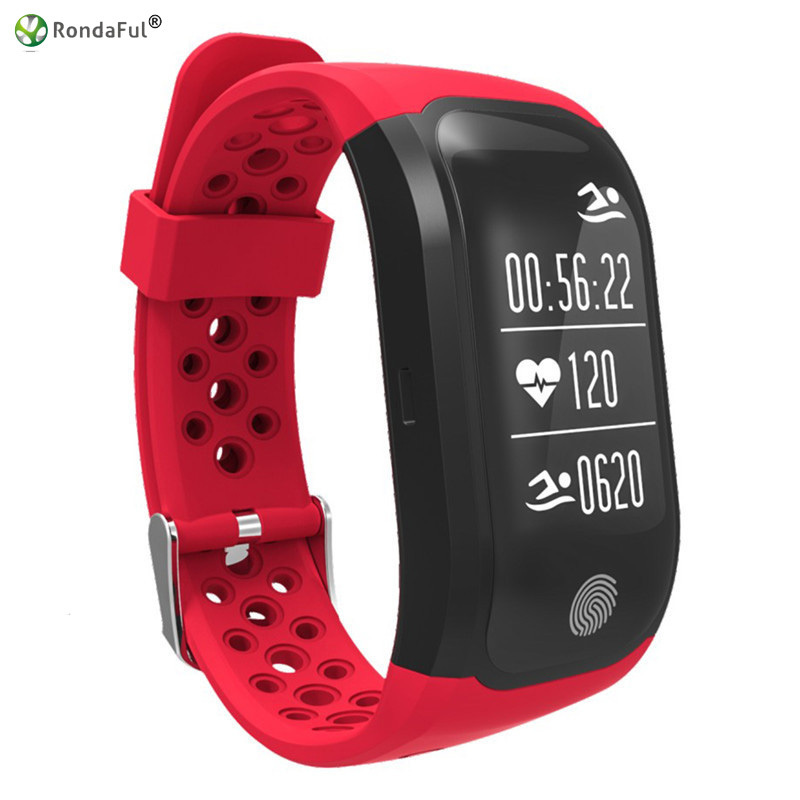 Rondaful Smartband Waterproof IP68 Swimming Sport Tester Fitness Tracker Bluetooth GPS Activity Tracker Smart Bracelet For