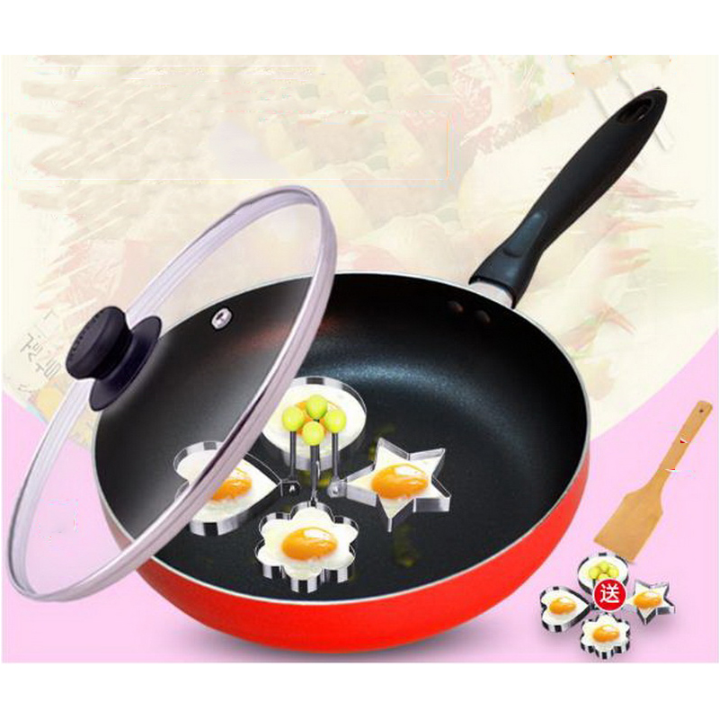 230604/Frying pan Non-stick pan gas stove non-stick 26/28cm steak pot home flat frying pan/Bakelite fine handle