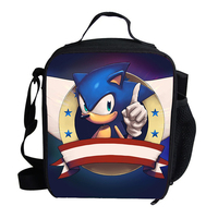 Sonic The Hedgehog Large Thicken Food Fresh Keep Lunch bag thermal insulated Lunch Box Bag Boys&Girls Portable Tote Cooler Bag