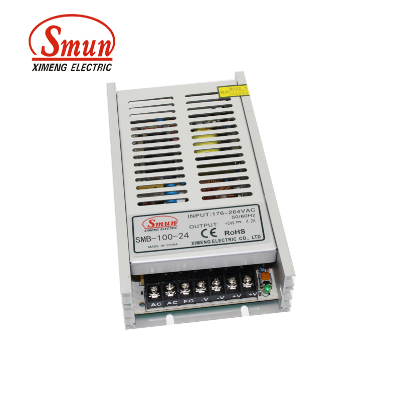 SMUN SMB-100-24 100W Ultra Thin Single Output Switching Power Supply 24V 4A AC-DC Slim Led Driver встраиваемая акустика speakercraft profile accufit ultra slim one single asm53101 2