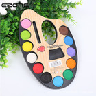 EZONE 12 Colors Water Color Design Of Palette Shape With Paint Brush Set For Children Watercolor Painting Gouache Drawing Supply