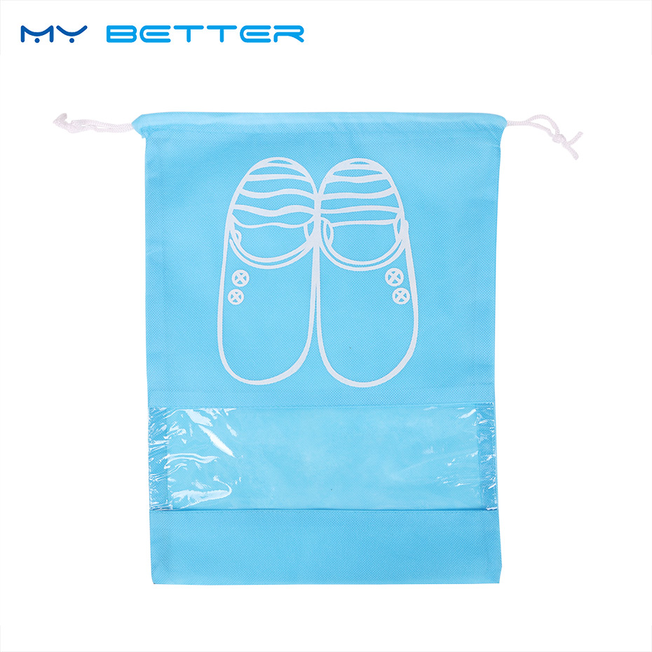 Travel Storage Shoes Bag Non Woven Portable Drawstring Dustproof Cover Pouch Useful Travel Accessories