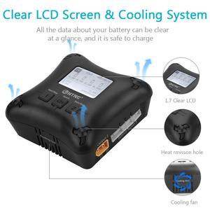 Image 3 - Carregador htrc h4ac duo mini porta dupla, carregador lipo 20w x2 2a x2 para 2 4s carregador de bateria profissional lipo,
