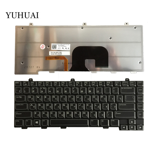 20a21f7899a Russian Keyboard For DELL Alienware M14X R1 M14X R2 0JRWP3 NSK-AKU0R  PK130ML1B03 RU Black with Backlit