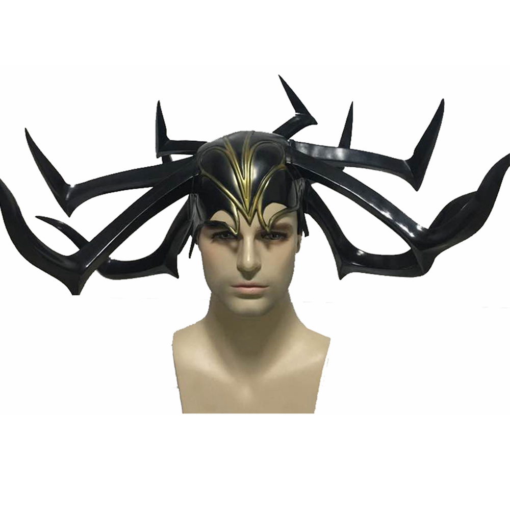 2018 New Arrival Thor: Ragnarok Hela Helmet Movie Cosplay Costume ...