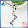 Fashion Classic 925 Sterling Silver I Love My Dog,Bone DIY Pendant Fit Necklace & Bracelet