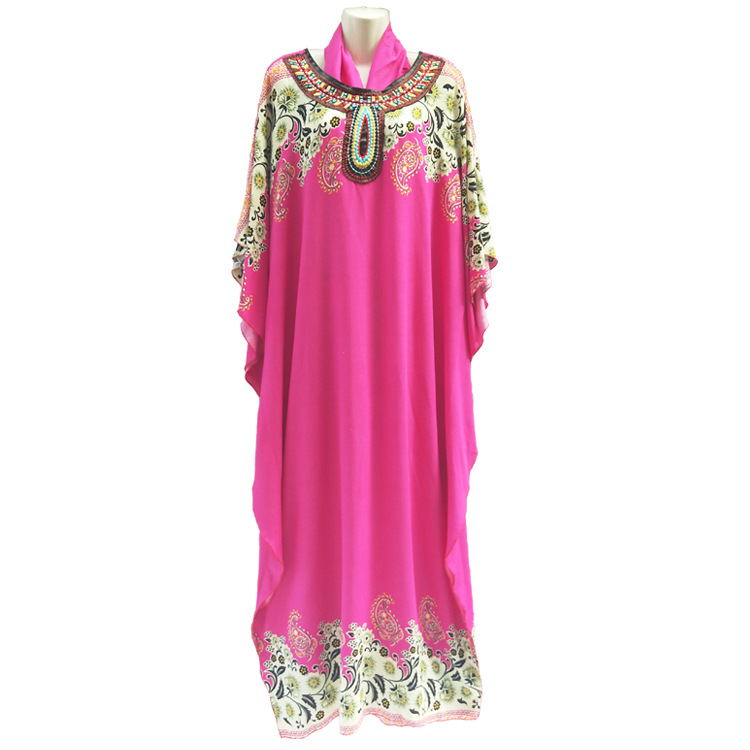 (GIft During Ramadan) Uniform size about 142cm length New Fashion Big ABAYA Women's Wear Muslim rayon Cotton Prayer Robe