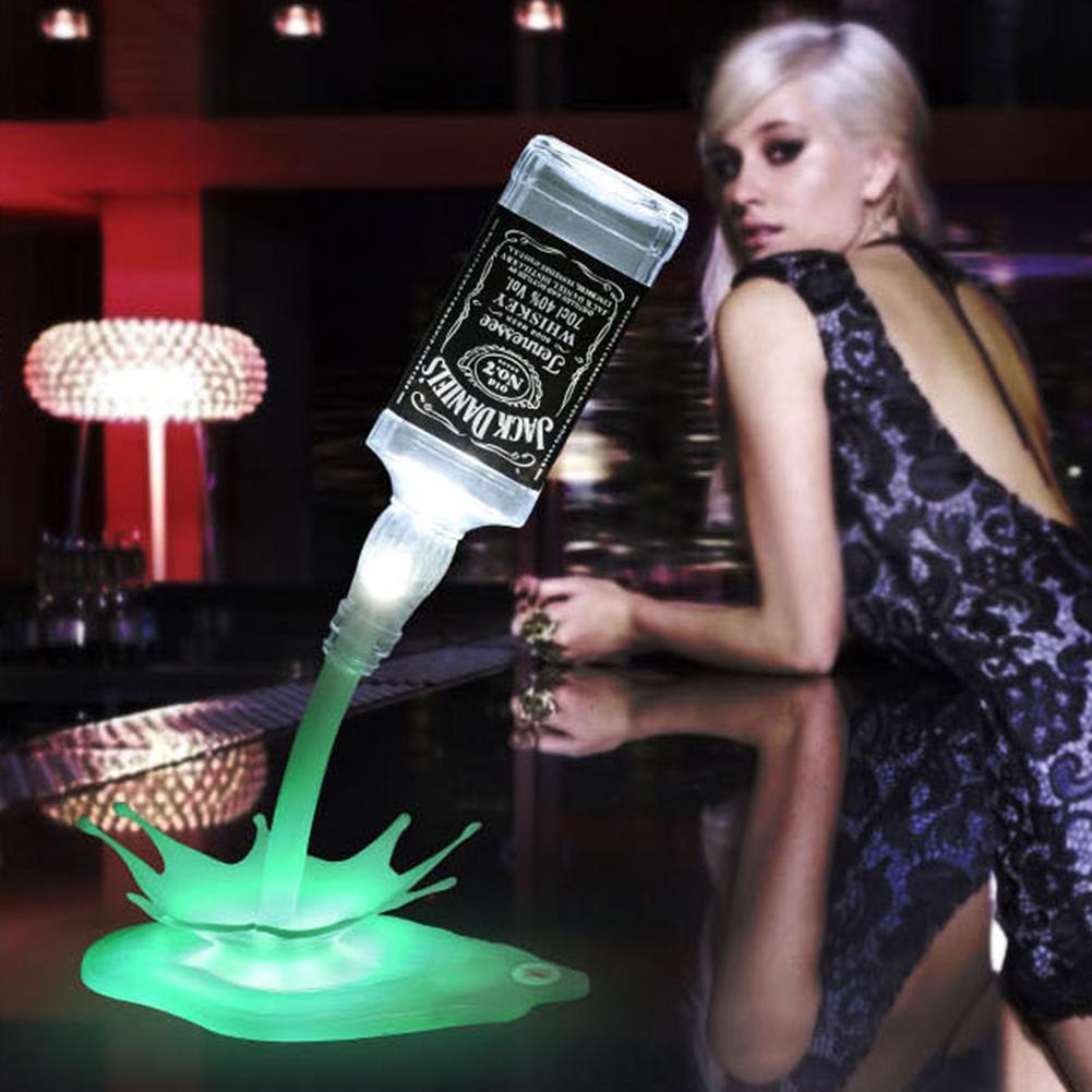 OfficiëLe Website Draagbare Touch Switch Usb Fles Giet Wijn Lamp Bar Party Led Decor Nachtlampje Nieuwe Rillingen En Pijnen