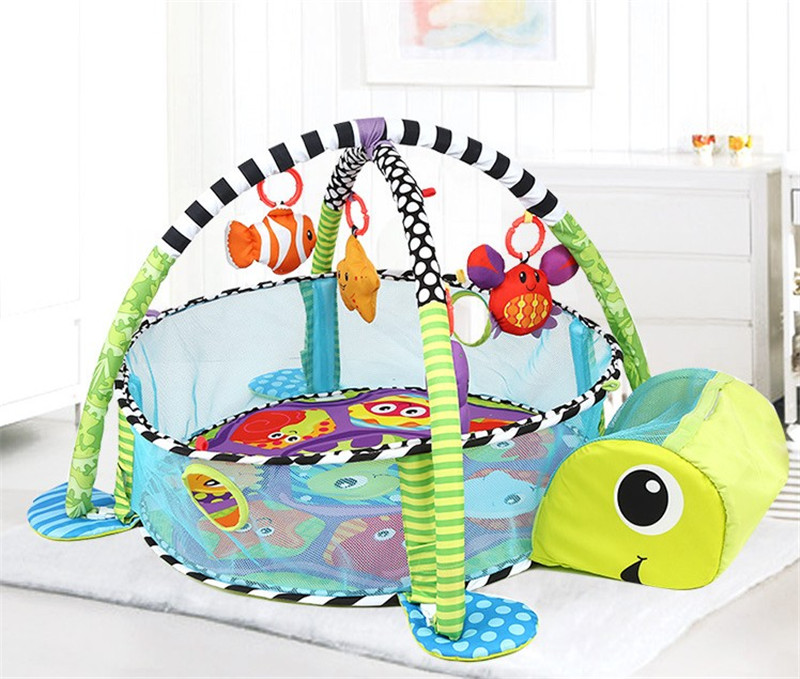 Turtle Shaped Infantino Blanket Grow With Me Activity Gym