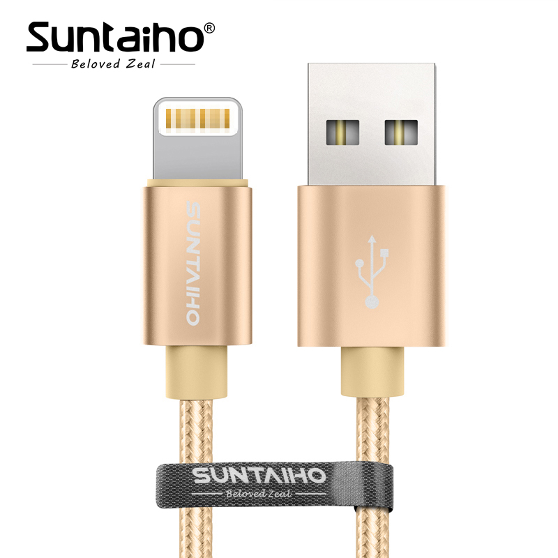 Suntaiho for iPhone 8 plus Fast Charging Nylon USB Cable for iPhone X Cable USB Charging Date Cable for iPhone 7 plus 6s plus