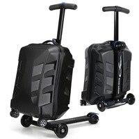 Путешествия сказка 100% PC Личность cool скутер чемодан нести на Spinner колеса Многофункциональный Путешествия Чемодан 21