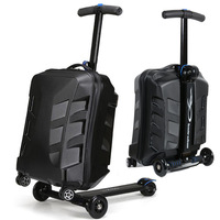 Travel tale 100% PC personality cool scooter Suitcase Carry on Spinner Wheel multi function Travel Luggage 21