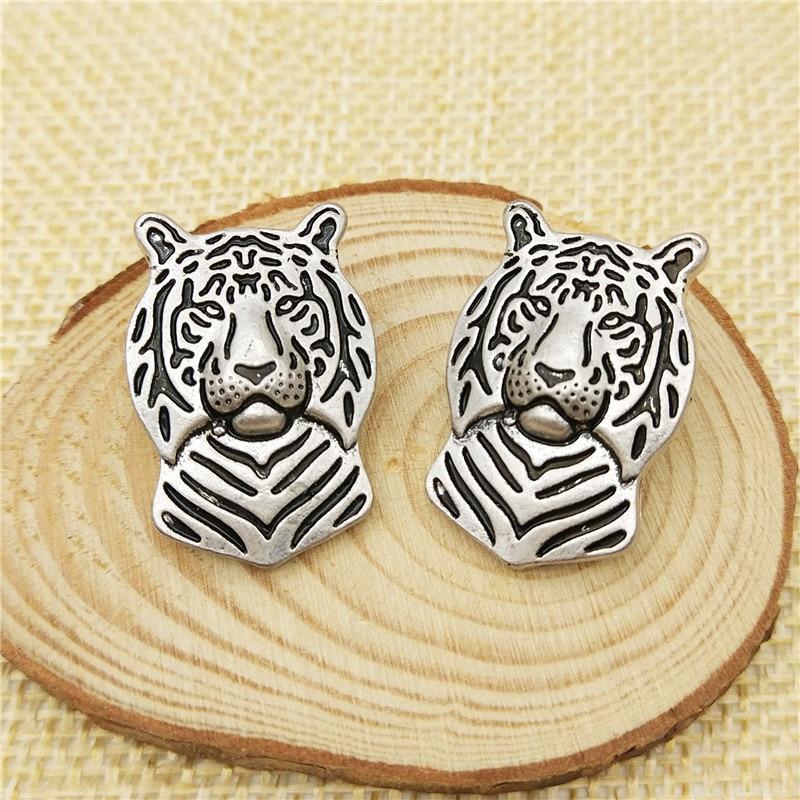 LPHZQH broches de la vendimia tigre Broches Collar Pin Joyería Accesorios de vestir hombres y mujeres pines de solapa Regalo plata antigua