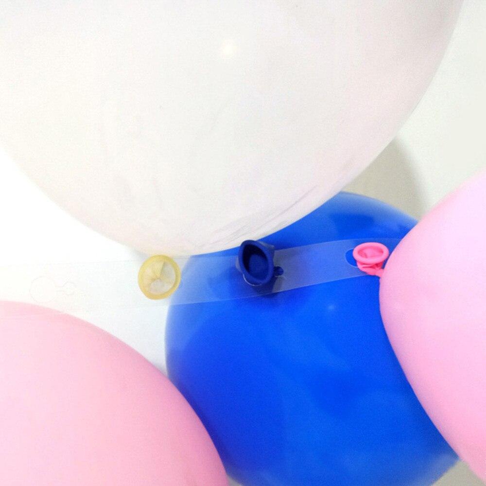 5 M прозрачная Мягкая Арка полоска для воздушных шаров Baby Shower Свадебные украшения полоска для воздушных шаров ленте арка подключения полосы декор для вечеринки в честь Дня Рождения