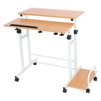 Multi Function Laptop Desk Stable Adjustable With Wheels Mobile Portable Laptop Computer Standing Desk For Home