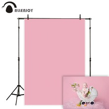 Allenjoy pink photography backdrop solid color baby shower background portrait photo studio photoshoot prop wedding photocall