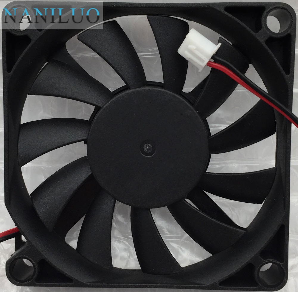 7010M12B ND1 7cm <font><b>7010</b></font> 70mm fan 70x70x10mm 12V 0.25A <font><b>2</b></font>.54pin 2pin ball bearing slim cooling fan image