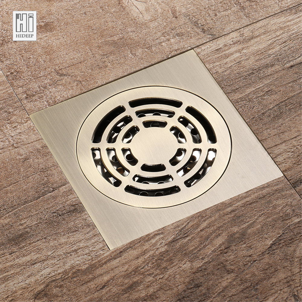 HIDEEP Antique Bronze Anti odor Floor Drain Deodorant ...