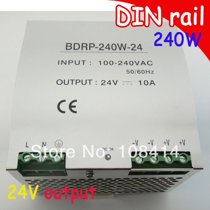 Universal input, DIN rail 240w switching power supply 24v output DIN RAIL supplies, free shipping dhl ems md 240 24 1 din rail power supply metal case 24v 10a output 85 264vac input c4 d9
