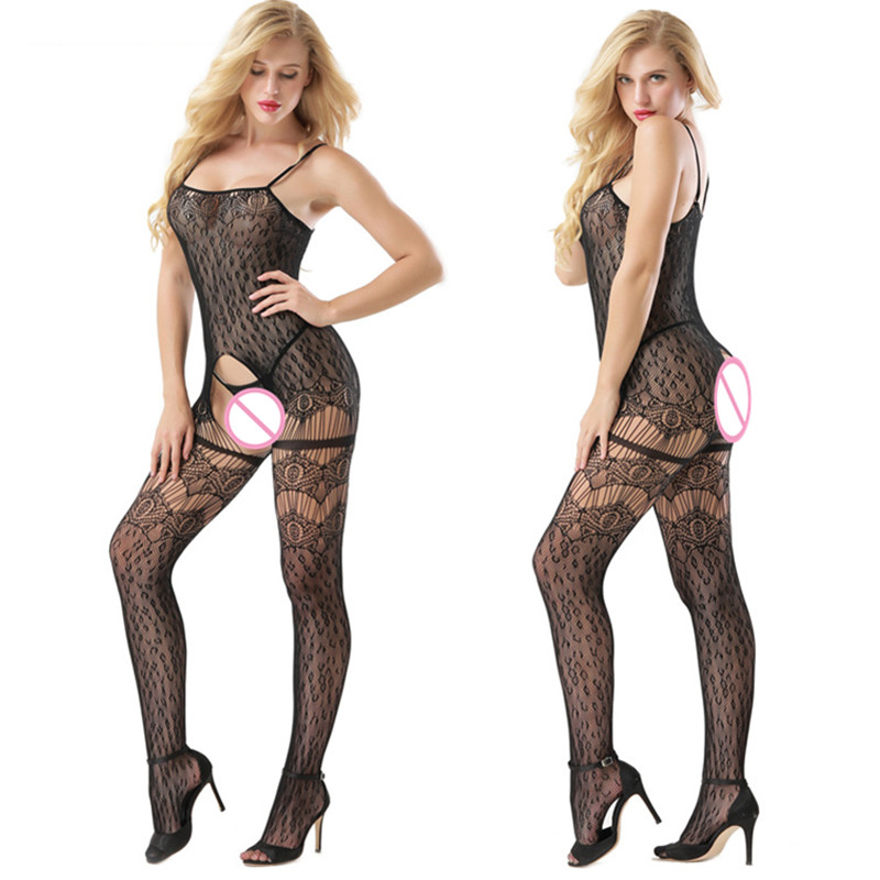 Women's Sleepwear Pyjama Slips Bodycon intimates Full Slips Bodysuit Rompers Elastic Slim Mesh Body Stocking G-String Underwear