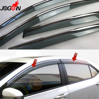 For Toyota Corolla E170 Sedan 2014 2015 2016 2017 Window Sun Rain Visors Vent Shade Deflector
