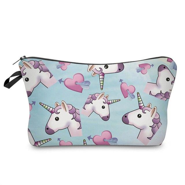 f2d0cc2d2d28 US $1.76 55% OFF|BBL 3D Unicorn Printing Cosmetic Bags Women Cute Makeup  Bag Travel Portable Toiletry Pouch Makeup Organizer Maleta De Maquiagem-in  ...