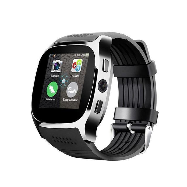 T8 Bluetooth Smart Watch With Camera Facebook Whatsapp Support SIM TF Card Call Sports Smartwatch For Android Phone PK Q18 DZ09
