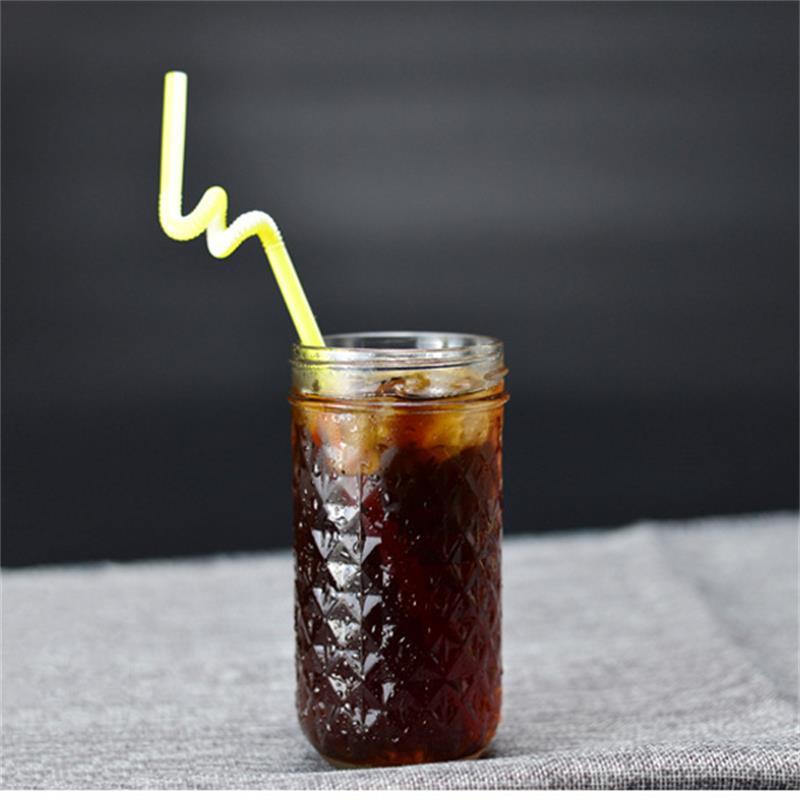 130 ~ 780ML Mason Jar glas kopp dryck rån med lock halm sommar Glass - Hemlagring och organisation - Foto 2