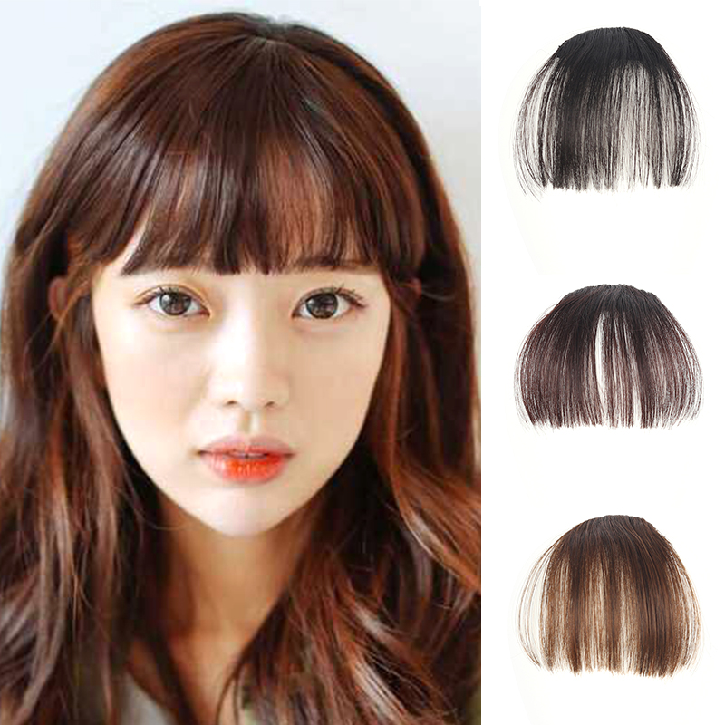 Natural Ultra Thin Bang Clip on Hair Fringe