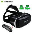 Shinecon vr ii 2.0 filme 3d óculos de vídeo móvel 360 ipd ajuste capacete óculos de realidade virtual para 4.7-6.0 smartphone + controlador