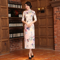 Top Quality Women's Cheongsam Surplice Cheongsam Dress Retro Chinese Style Qipao Traditional Long Cheongsam China Daily Dress
