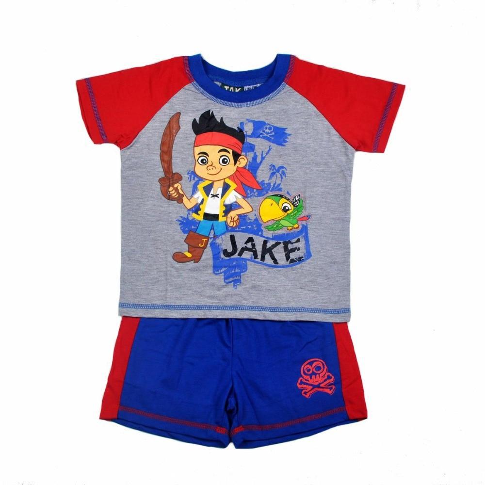 Boys pirate pajamas promotion shop for promotional boys T shirt and shorts pyjamas
