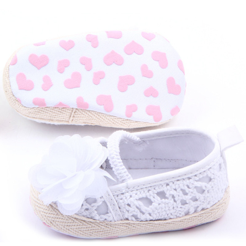 Baby Girls Kids Cotton Floral Infant Soft Sole Baby First Walker Toddler Shoes