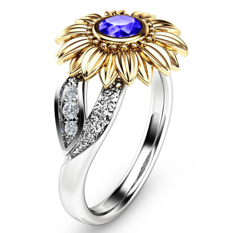 Crystal Sunflower Ring 2