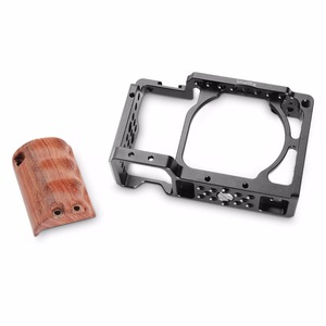 Image 3 - SmallRig for sony a6000 accessories for Sony A6300 / A6000 / ILCE 6000 / ILCE 6300 Cage W/ Wooden Handle Dual Camera Rig    2082