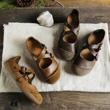 (35 42) imter bailarinas mulher descalço sapatos planos mulher couro genuíno fivela cinta senhoras sapatos solas planas (5188 9)