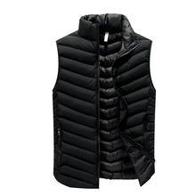 030bcc11503 2018 новые модные однотонные Модные осень Для мужчин жилет пальто  Повседневное тонкий осень-зима Для мужчин s жилеты куртка без .