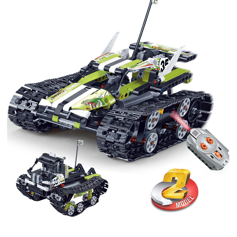 Compatible Technic RC Tracked Racer Car Electric Motor Power Function Kits Remote Control Building Blocks Bricks