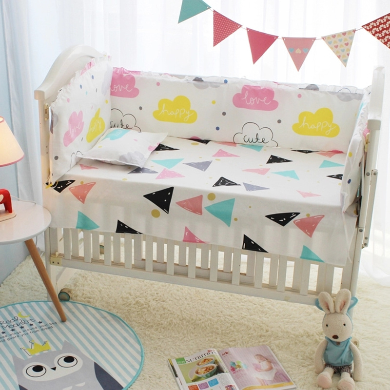 Ups Free New 3 Pcs Beatles Baby Cot Set Bedding Crib For Baby Sheets Comforter Quilt Sheet Bumper The Latest Fashion Baby Bedding Mother & Kids