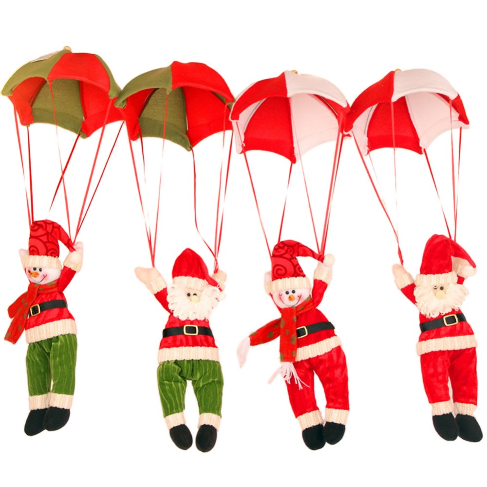Christmas Decoration Pendant Nonwoven Lovely Santa Clausing With  Parachute Vintage Christmas Ornament