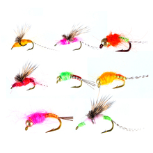 Piscifun 40pcs Wet Flies Fly Fishing flies Kit Bass Salmon Trouts Sinking Assortment with Fly Box Free shipping
